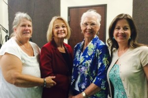 Judge Edna Staudt & Pastor Linda Chandler Love Talking with Evelyn & Cathy